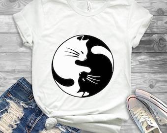 Yin Yang Cats Shirt - Show Me Your Kitties Tee - Cat Shirt - Cat Lover - Kitties Shirt - Cat Lady T-shirt - Crazy Cat Lady