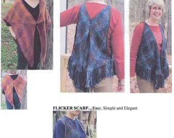 """Triangle Shawls  """"Easy as 123 and More"""" Weaving Pattern"""