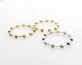 Diamond stack rings 3 color.