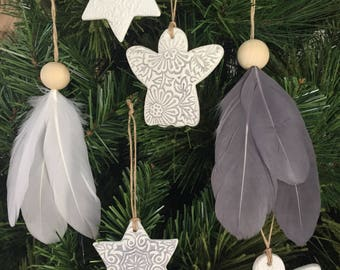 Christmas decorations pack of 6
