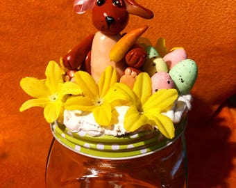 Easter Candy Storage Glasses Easter Bunny