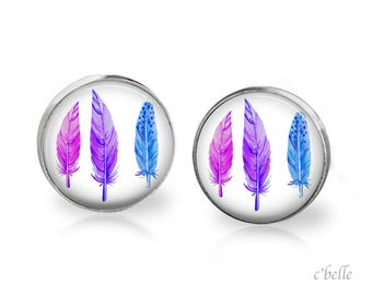 Earrings feather feather - 26