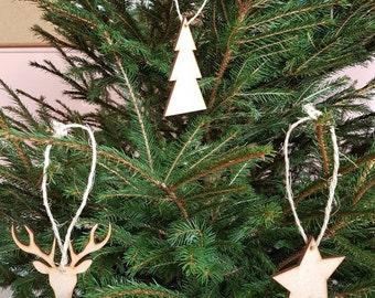 Decorative wood Christmas tree (lots)