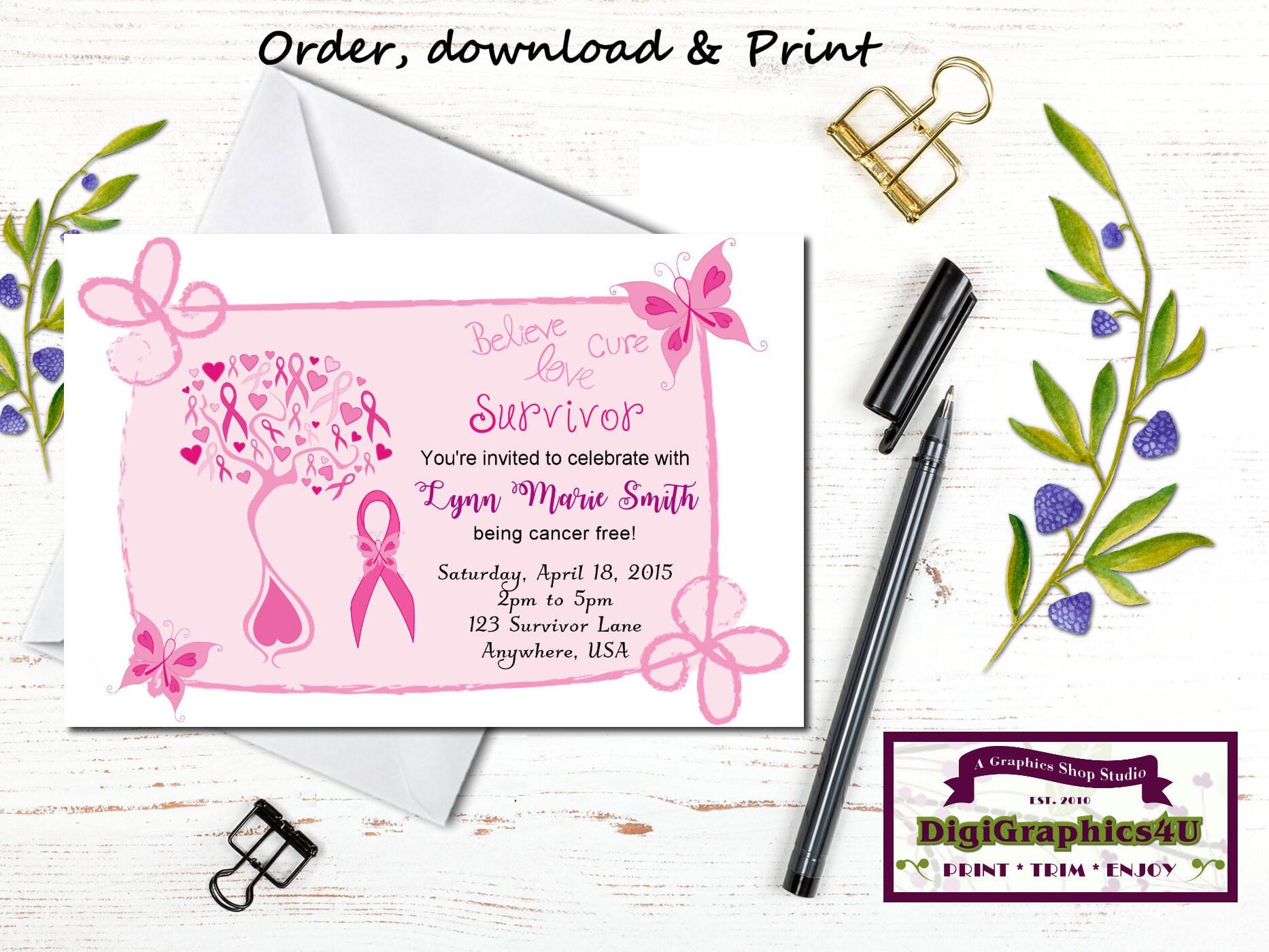 Breast Cancer Survivor Cancer Free Party Celebratory