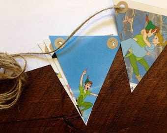 Peter Pan Bunting - Tinkerbell - Book Bunting - Classic Disney - Childrens Gift - Nursery Decor