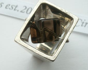 Danish Sterling silver statement ring