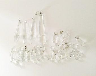 Chandelier crystals etsy prisms chandelier crystals lamp crystals vintage glass crystals repurpose jewelry making aloadofball Gallery