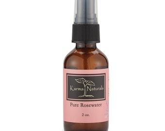 Karma Organic Pure Rose Water Spray Natural Face Toner Anti Toxic Skin Fresher