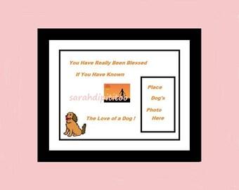Instant Download Dog Blessing Printable Dog Photo Wall Art Dog Owner Gift  Digital Dog Art Pet Art Dog Memorial Gift Dog Photo Gift Dog Loss
