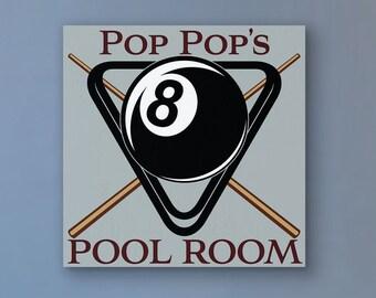 Personalized Billiard, Personalized Billiard Signs, Billiards Decor, Billiards Room Decor, Billiards, Billiard Signs, 8 Ball, Wood Signs