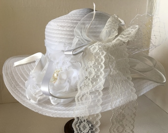 Summer Hat white or pink