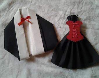 an original way to present your napkins red black cabaret corset