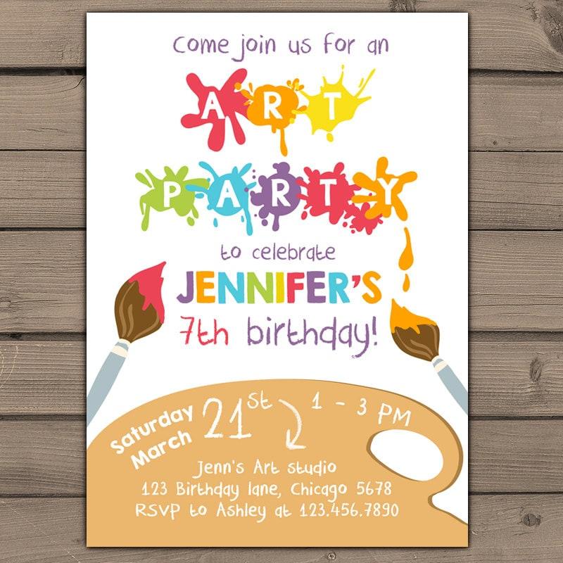craft birthday invitations - Yeni.mescale.co