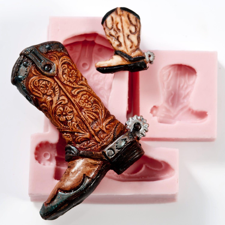 D Cowboy Boot Cake Pan