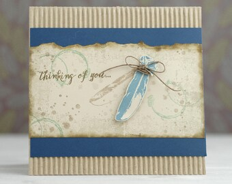 Thinking of You Feather Card