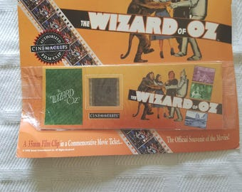 Wizard of Oz film clip in a commemorative movie ticket