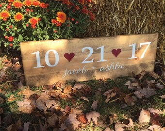 Wedding Date Sign, Wedding Sign, Personalized Wedding Sign, Save the Date Wedding Sign, Wedding Prop, Wedding Decor, Wood Wedding Sign, Sign