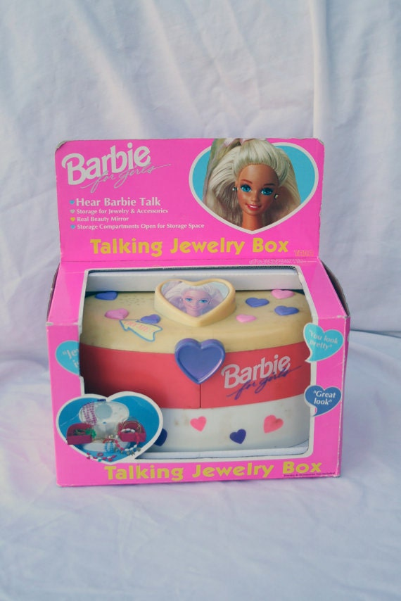 Items similar to Vintage 1995 Barbie Talking Jewelry Box In original