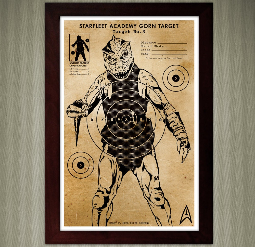 Star trek gorn vintage shooting target 11x17 zoom jeuxipadfo Image collections