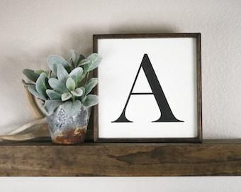 Wood letter sign, vintage letter sign, farmhouse style wooden letter, capital letter wall decor, alphabet sign, monogram wall decor, letters