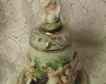 Capodimonte Porcelain Bell, Made in Italy