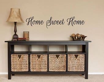 Home Sweet Home Wall Decal Home Wall Vinyl Home Vinyl Decal Home Wall Decal Home Sweet Home Decal