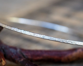 Stacker Bangle. Sterling Silver. Hammered Texture. Organic Silver. Bracelet. Stacking Bangle. Rustic Jewelry. Silver Jewellery. Minimalist.