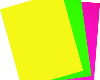 Iron-on sheet of flex PU fluo neon
