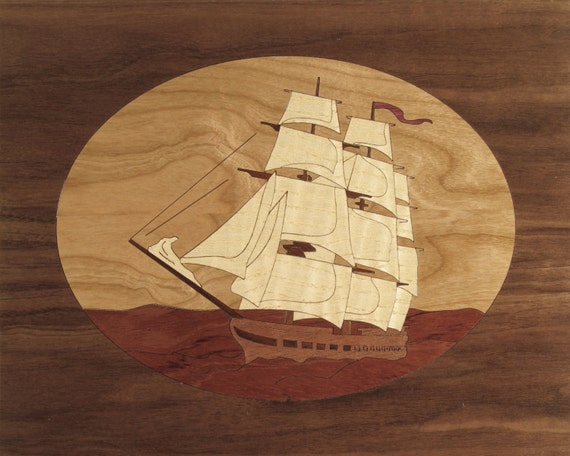 """8""""x 10"""" Marquetry Project Kit - Constitution"""