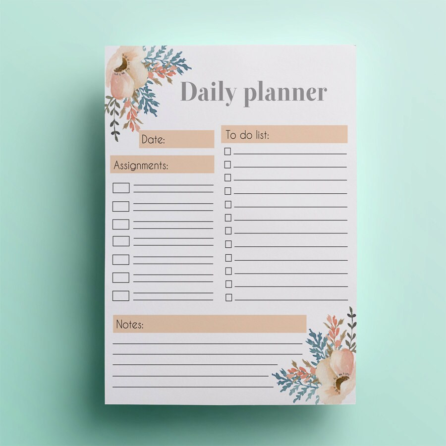 🔎zoom  Day To Day Planner Template Free
