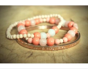 Bracelet Rosegold (also in silver)