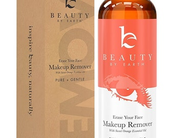 Makeup Remover; with Organic and Natural Ingredients; Gentle, Oil Free Ultra Lightweight Liquid for Easy Removing and Cleansing Eye or...