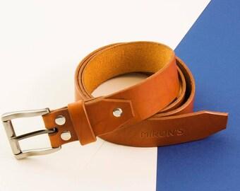 Leather belt, Men's Leather Belt, Belts for Men, Tan Belt, Tan Leather Belt