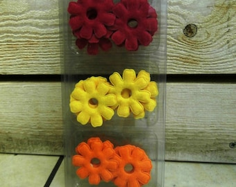 Assorted 16 flowers felt 50mm
