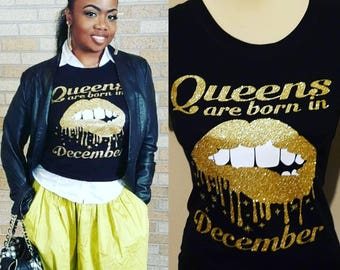Queens Are Born In January or Any Month Perfect Birthday Gifts For Women or Young Ladies Birthday Girl