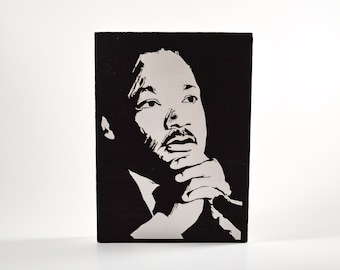 MLK Small painting black and white
