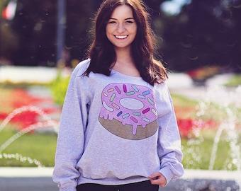 De Sweater hombro hombro hombro parte superior hombro gran tamaño suéter Jersey Slouchy Womens Sweater sudadera mujer Donut