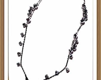 Handmade MWL black onyx and chsin necklace. 0142