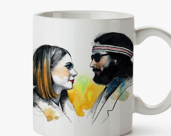 Margot & Richie Mug - A Tribute to Wes Anderson film