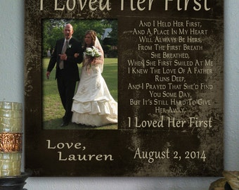ILF, Father of the Bride Gift, Favorite Walk, Bridal Wedding Frame, Personalized Custom Frame, Wedding Gift for Dad, Picture Frame Dad