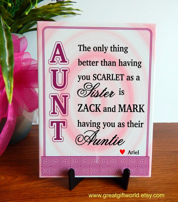 auntie appreciation gift gifts for sister aunt mothers day