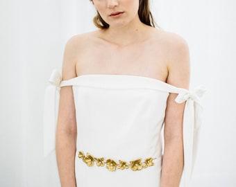 Flora Sash, Wedding Sash, Bridal Belt, Leaf Sash, Leaf belt, Bridal sash, flower sash, boho sash, Wedding belt, bohemian #139
