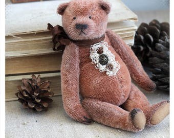 Classic Teddy bear 19 cm OOAK
