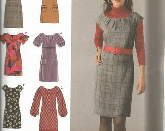 Simplicity 2846 Easy To Sew Dress Pattern SZ 12-20.