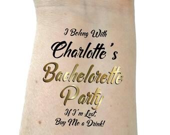 Bachelorette party tattoo bridesmaid tattoo bachelorette tattoos gold tattoos