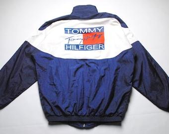 vintage Tommy Hilfiger big logo Jacket Size L men's