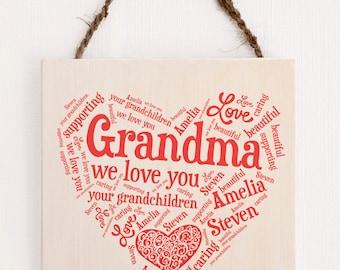 Personalized Gift for Grandma, Grandma Gift, Birthday Gift for Grandma, Gift Granny, Gift Grannys Birhtday