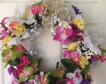 Flower Spring Wreath