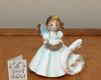Josef Original Birthday Angel Figurine - Birthday Girl with Wings - Sixth - Six - 6