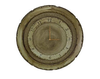 "24"" Circle Wall Clock, Custom Wall Clocks, Circle Clocks, Large Wall Clock, Rustic Wall Clocks, Distressed Clocks, Heavily Distressed Clock"